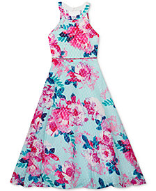 Rare Editions Big Girls Printed Ball Gown