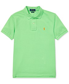 Big Boys Mesh Cotton Polo