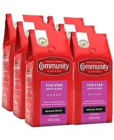 5 Star Hotel Blend Medium Roast Premium Ground Coffee, 12 Oz - 6 Pack