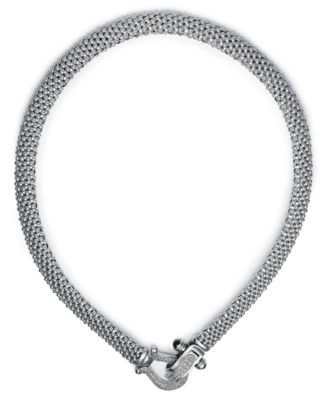 Diamond Mesh Necklace in Sterling Silver (5/8 ct. t.w.)