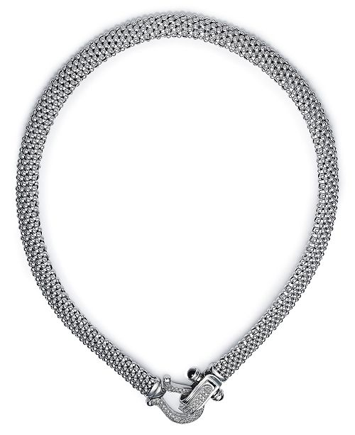 Macy's Diamond Mesh Necklace in Sterling Silver (5/8 ct. t.w.)