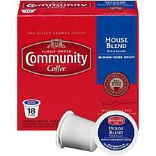 House Blend Medium-Dark Roast Single Serve Pods, Keurig K-Cup Brewer Compatible, 72 Ct