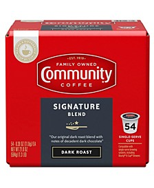 Signature Blend Dark Roast Single Serve Pods, Keurig K-Cup Brewer Compatible, 54 Ct