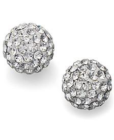 Crystal Stud Earrings in Sterling Silver