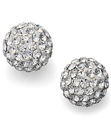 Unwritten Crystal Stud Earrings in Sterling Silver