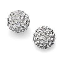 Unwritten Crystal Stud Earrings in Sterling Silver