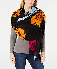 Calvin Klein Pop Flower Oversized Scarf