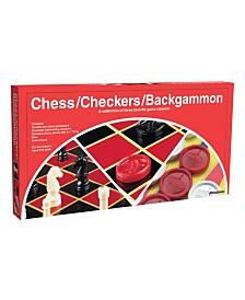 Pressman - Checkers/Chess/Backgammon (Folding Board)