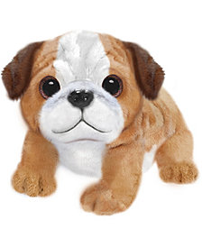 "First and Main - Wuffles Pug Plush Dog, 7"" Sitting"