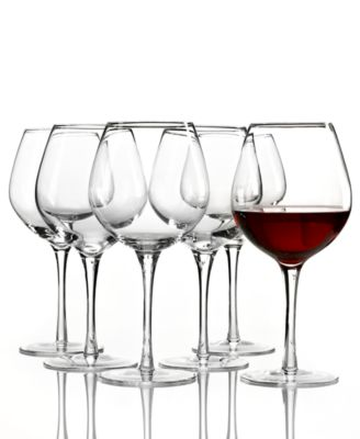 Tuscany Red Wine Glasses 6 Piece Value Set