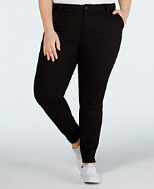 Trendy Plus Size Skinny Ankle Pants