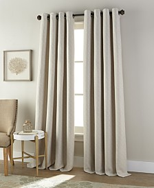 "Harrison Grommet Single Curtain Panel, Pumice Stone, 54 x 95"""