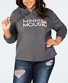 Modern Lux Trendy Plus Size Minnie Mouse Graphic-Print Hoodie