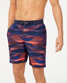 """Nike Men's Line Up Vital Regular-Fit 9"""" Swim Trunks, Created for Macy's"""