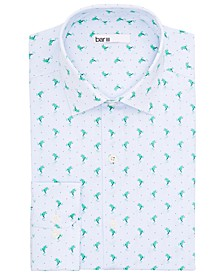 Men's Slim-Fit Performance Stretch Frog Stripe Dress Shirt, Created for Macy's