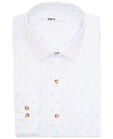 Bar III Men's Slim-Fit Performance Stretch Tossed Tulip Stripe Dress Shirt, Created for Macy's