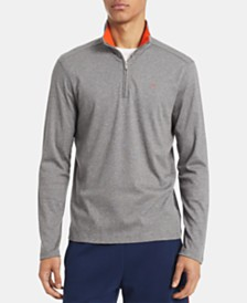 Calvin Klein Men's Big & Tall Regular-Fit 1/4-Zip Sweater