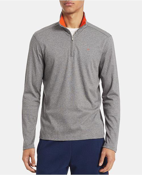 Calvin Klein Men's Big & Tall Regular-Fit 1/4-Zip Sweater