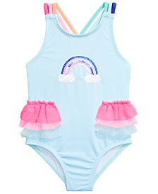 Penelope Mack Toddler Girls 1-Pc. Rainbow Swimsuit