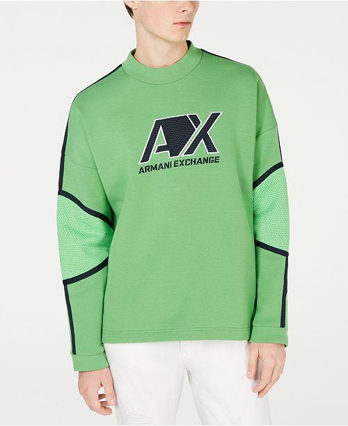 A|X Armani Exchange Men's Long-Sleeve Logo T-Shirt