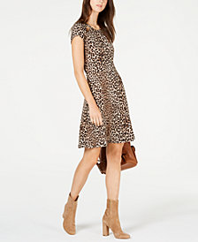 MICHAEL Michael Kors Animal-Print Cutout Dress, in Regular & Petite Sizes