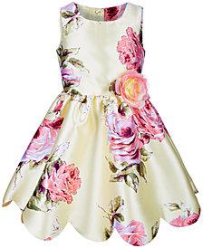 Pink & Violet Little Girls Floral-Print Dress