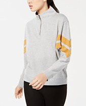 Hippie Rose Juniors  Colorblock Striped Half-Zip Sweatshirt b37a701ea