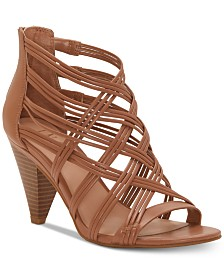 I.N.C. Women's Gustava Strappy Cone-Heel Sandals, Created for Macy's