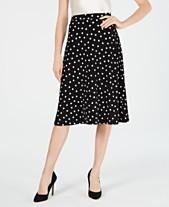 c644d725dd13 Kasper Dot-Print A-Line Midi Skirt