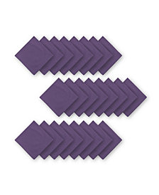 Elrene Stone Washed Purple Cotton Napkins, Set of 24