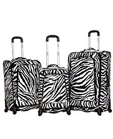 Rockland Zebra 3PCE Softside Luggage Set