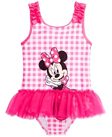 Dreamwave Toddler Girls 1-Pc. Minnie Mouse Graphic Swimsuit