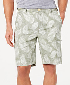 "Tommy Bahama Men's Tonga Fronds Regular-Fit Performance Stretch Palm-Print 10"" Cargo Shorts"