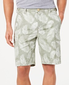 """Tommy Bahama Men's Tonga Fronds Classic Fit Performance Stretch Palm-Print 10"""" Cargo Shorts"""