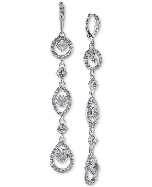 Givenchy Crystal Linear Drop Earrings