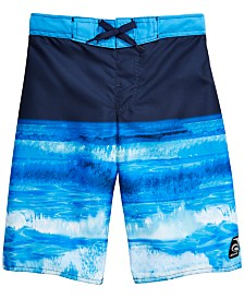 Laguna Big Boys Ocean-Print Swim Trunks
