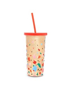 ban.do Sip Sip Tumbler With Straw (Deluxe), Confetti