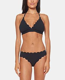Jessica Simpson Scalloped Bikini Top & Bottoms