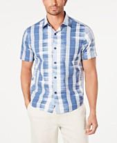 f76baa2b Tommy Bahama Men's Who Got Ikat Classic Fit Stripe Camp Shirt
