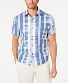 Tommy Bahama Men's Who Got Ikat Classic Fit Stripe Camp Shirt