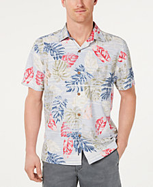 Tommy Bahama Men's Botanica Sketch Regular-Fit IslandZone Moisture-Wicking Hawaiian Camp Shirt