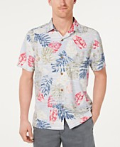 282f3b88 Tommy Bahama Men's Botanica Sketch Classic Fit IslandZone Moisture-Wicking  Hawaiian Camp Shirt