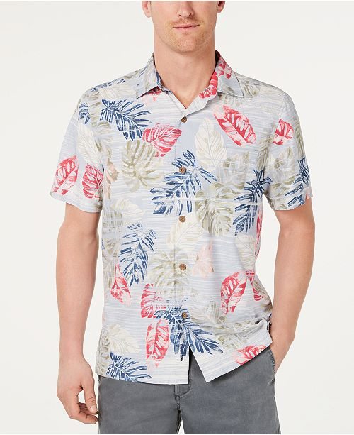 653b5ee2 ... Tommy Bahama Men's Botanica Sketch Classic Fit IslandZone  Moisture-Wicking Hawaiian Camp Shirt ...