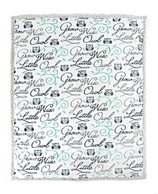 Tadpoles Wise Owl Double Layer Baby Blanket