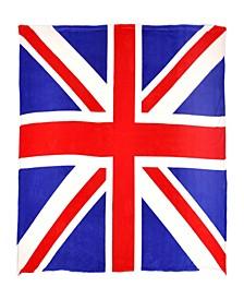 Sleeping Partners Union Jack Flag Fleece Throw Blanket