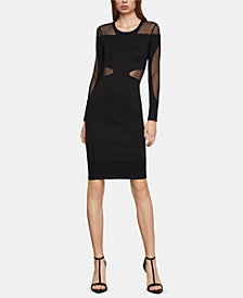 BCBGMAXAZRIA Illusion Racerback Sheath Dress