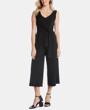 Karen Kane Suits TIE-FRONT JUMPSUIT