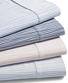 AQ Textiles Modernist Printed Wavy Stripe 4-Pc. Sheet Sets, 750-Thread Count Cotton Blend, Created for Macy's