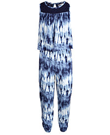 Epic Threads Big Girls Tie Dyed Popover Jumpsuit, Created for Macy's