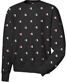 Champion Men's Reverse Weave Logo-Print Sweatshirt